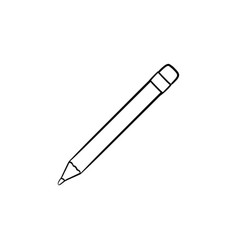 pencil hand drawn outline doodle icon vector image
