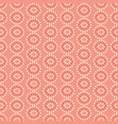 pink and cream star circles geometric vector image