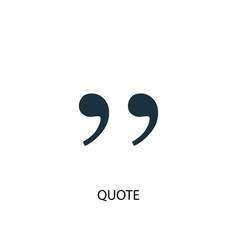 quote icon simple element quote vector image