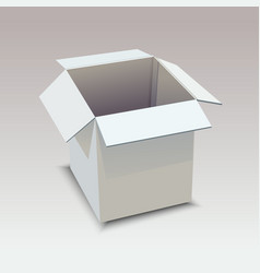 realistic white box on gray background vector image