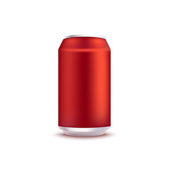 Red blank aluminum can vector