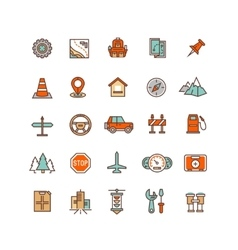 Road traffic flat icons vector image