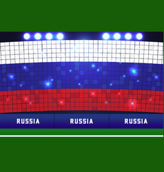 Russia flag card stunts russia soccer or football vector