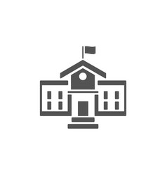 school building icon on a white background vector image