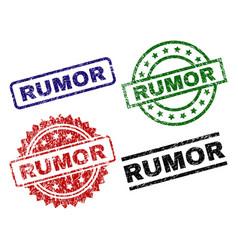 scratched textured rumor seal stamps vector image