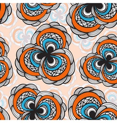seamless abstract floral bright pattern 4 clipping vector image