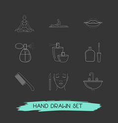 set of beautiful icons line style symbols with vector image