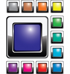 set of shiny silver buttons vector image