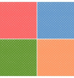 Simple Polka Seamless Set vector image