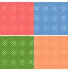 simple polka seamless set vector image