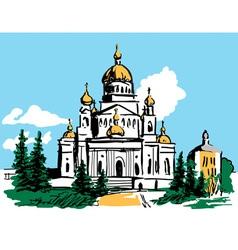 Sketch temple vector