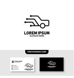 Smart and tech car logo design vector