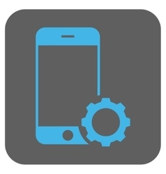 Smartphone Setup Gear Rounded Square Icon vector