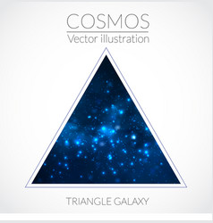 space triangle form with stars universe vector image