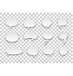 speech bubble set volume transparent background vector image