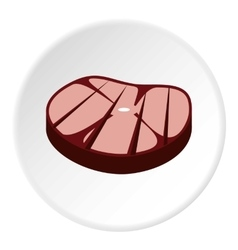 Steak on grill icon flat style vector