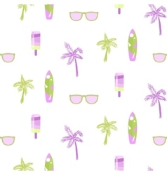 Summer beach party seamless pattern for cards or vector image