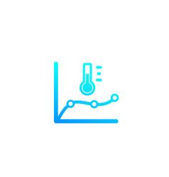 Temperature monitoring icon vector