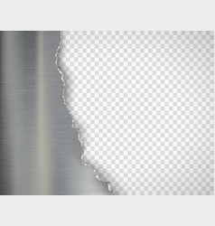 torn metal plate isolated on a transparent vector image