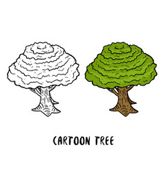tree cartoon trees isolated vector image