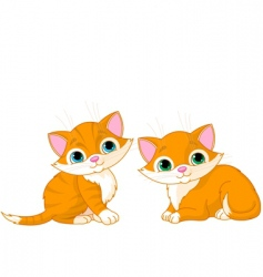 Two very cute cats vector