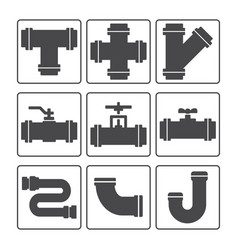 Water pipes icon vector