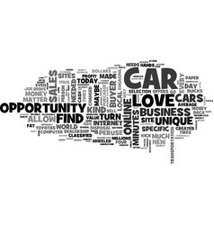 When auto sales sail text word cloud concept vector