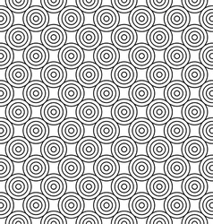 Abstract seamless background of circles vector image vector image