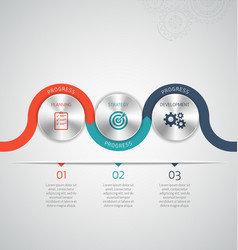 circle modern infographic template vector image