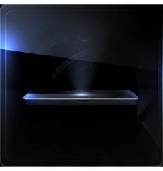 Empty shelf black screen vector image