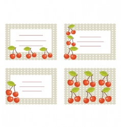fruit cards vector image vector image