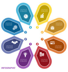 infographic points arranged in circle eight vector image vector image