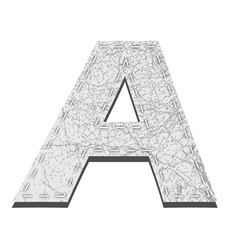 Leather White Textured Letter A vector image vector image