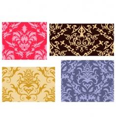 damask backgrounds set vector image