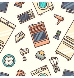 Home appliances seamless pattern vector image vector image