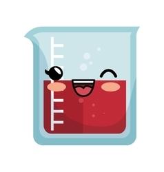 kawaii chemistry test tube lab icon vector image