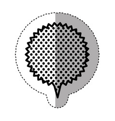 monochrome sticker with circular speech with vector image vector image