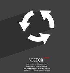 Refresh icon symbol Flat modern web design with vector image