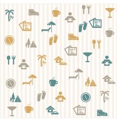 Tourist seamless pattern vector image