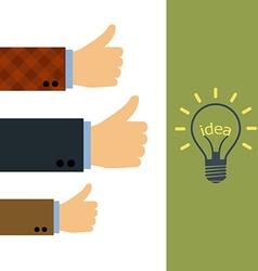 Word idea in a light bulb vector image