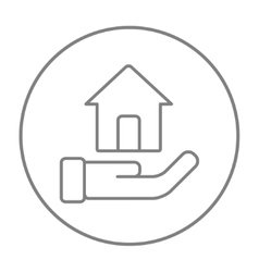 House insurance line icon vector image