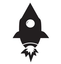rocket icon on white background flat style vector image