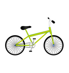 silhouette of sport green bike in white background vector image vector image