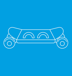 skateboard icon outline style vector image