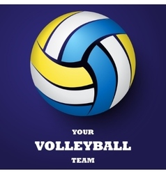 Volleyball background with text vector image vector image