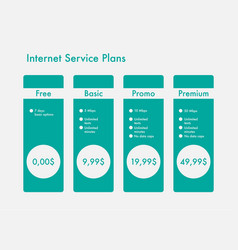 banners hosting plans vector image