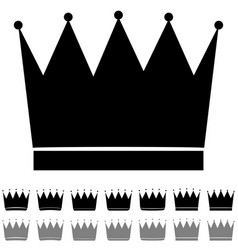 black and grey crown different shapes icon vector image