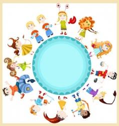 Children horoscope vector