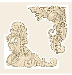 design elements in old style set vector image