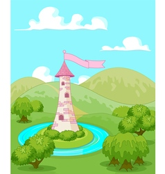 Fairytale tower vector image vector image